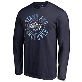 Fanatics Branded Fanatics Branded Vancouver Whitecaps FC Navy Stand For Vancouver Long Sleeve T-Shirt スポーツ用品 5XL 【並行輸入品】