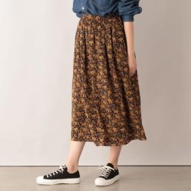 SALE【エムピー ストア(MP STORE)】 イングリッシュローズプリントスカート イングリッシュローズプリントスカート ブラック