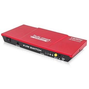 HDMI KVM切替器 2入力1出力 HDMI KVMスイッチ 2x1 HDMI KVM Switch 4k60hz、HDCP 2.2、HDMI2.