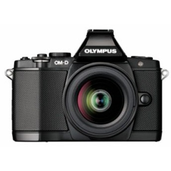 OLYMPUS ミラーレス一眼 OM-D E-M5 レンズキット ブラック 1605万画素 防塵(中古良品)