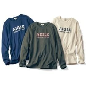 抗菌防臭機能でキレイを持続!AIGLEロゴ長袖Tシャツ