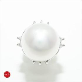 ブローチ ジュエリー PT900 合金 ピン パール ダイヤ 0.04