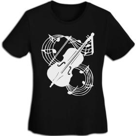 レディース半袖の円襟 重量級バイオリンの音符 Tシャツ メンズ 半袖 綿 ゆったり 薄手 夏 おしゃれ おおきいサイズ