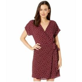 ボベー レディース ワンピース トップス Short Sleeve Wrap Dress Deep Burgundy/Ivory Polka Dot
