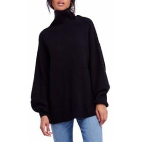 フリーピープル FREE PEOPLE レディース チュニック トップス Softly Structured Knit Tunic Black