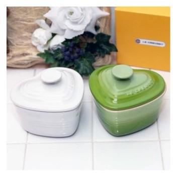 ル・クルーゼ(Le Creuset) ラムカンダムール フタ付き 蓋付 Lサイズ 2個セット ホワイトラスター+フルーツグリーン (日本正規販売品)