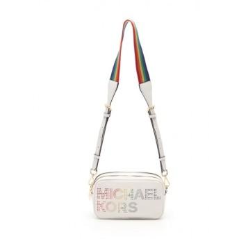 マイケル コース MICHAEL KORS LACEY SM ショルダーバッグ レザー 白 マルチカラー 35T9GW1C5I レディース 中古