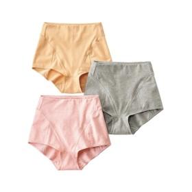 骨盤周りサポート綿混ストレッチショーツ3枚組 サポート・シェイプショーツ,Panties