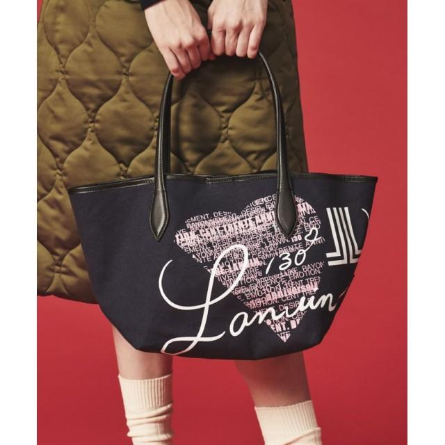 LANVIN en Bleu アニバーサリープリントキャンバスバッグ