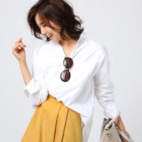 アンタイトル UNTITLED スヴィンコットンブロードシャツ (ホワイト)