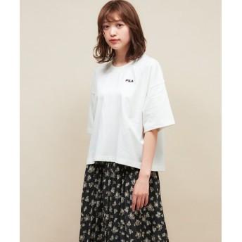 レトロガール FILAエンボスTee レディース ホワイト M 【RETRO GIRL】