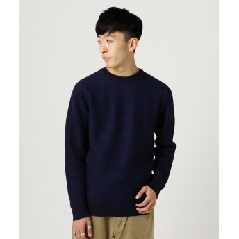 【50%OFF】 ビームス アウトレット BEAMS / リバーワッフル クルーネック メンズ NAVY M 【BEAMS OUTLET】 【セール開催中】