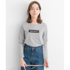 【50%OFF】 アーバンリサーチ アウトレット BRIGHTロゴTee レディース グレー F 【URBAN RESEARCH OUTLET】 【セール開催中】