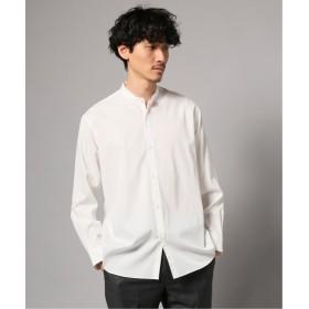 エディフィス ウォッシャブル バンドカラーシャツ メンズ ホワイト L 【EDIFICE】