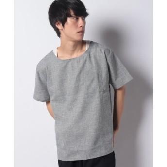 (WEGO/ウィゴー)WEGO/アンサンブルシャンブレープルオーバーシャツ/メンズ ブラック