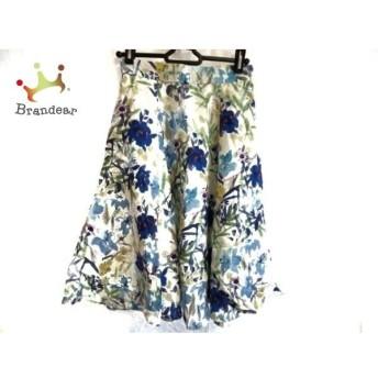 アプワイザーリッシェ スカート サイズ0 XS レディース アイボリー×ブルー×マルチ 花柄 新着 20190804