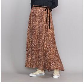 【BEAUTY & YOUTH UNITED ARROWS:スカート】<ne Quittez pas>レオパードプリントフレアロングスカート