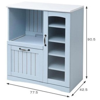 JKプラン FFC-0005-BL ブルー&ホワイト フレンチカントリー家具 [キッチンカウンター (幅75cm/フレンチスタイル)]