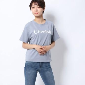 レトロガール RETRO GIRL CherishロゴTee (ライトブルー)
