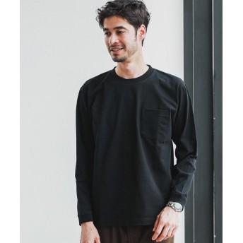 グリーンレーベルリラクシング SC ヘビーウェイト クルー 長袖 Tシャツ メンズ BLACK S 【green label relaxing】