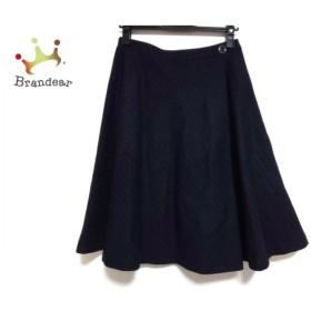 レリアン Leilian スカート サイズ9 M レディース 美品 ダークネイビー×ライトグレー  値下げ 20191030