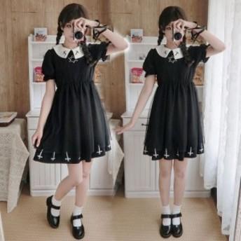 ゴスロリ ロリータ ワンピース レディース 二次元衣装 美人 少女ウェア ロリータ 色あり 黒 白 ワンピース 萌え萌え ダンス衣