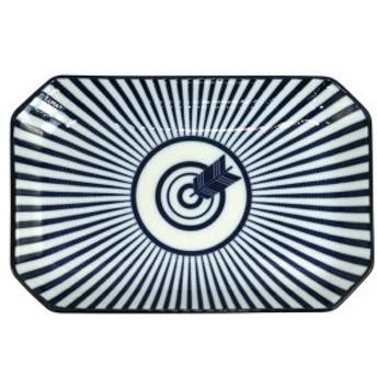 みのる陶器 和文様 八角プレート 矢 34-716617