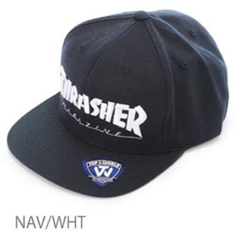 THRASHER スラッシャー TOP OF THE WORLD ベース平ツバキャップ ユニセックス 15th-C50