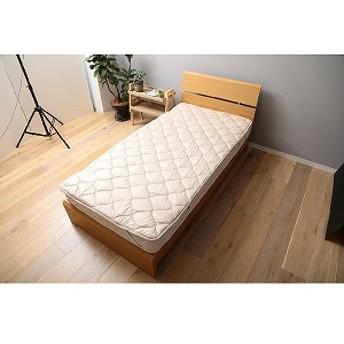 メルクロス 「ベッドパッド」洗える吸水速乾・抗菌防臭ベッドパッド(シングルサイズ/100×200cm/ベージュ) 179801BZ10(ベー