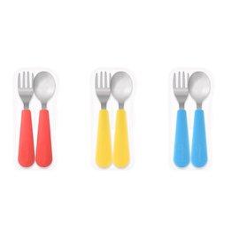 【淘氣寶寶】韓國 Sillymann 100%鉑金矽膠不鏽鋼幼童湯匙叉子餐具組(附盒)【保證原廠公司貨】