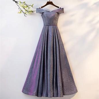 満足度99% 夏 星空のイブニングドレス 女性 2019 新着 宴会 貴族 優雅 スリム オフショルダー セクシー 小さい新鮮な ロングスカート 気質 レディース 年会 ロングセクション