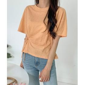 サードスプリング MICHYEORA(ミチョラ)リボンポイントTシャツ レディース オレンジ フリー 【3rd Spring】