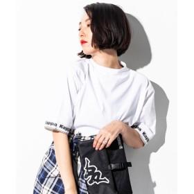 SHIFFON Kappa(カッパ) ボトルネックTシャツ レディース ホワイト FREE 【SHIFFON】