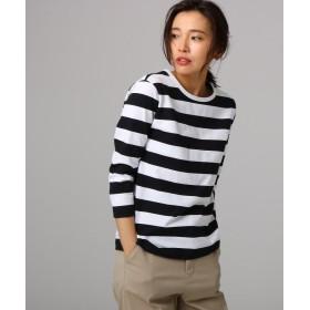 アンタイトル 綿アルティマボーダーTシャツ レディース ブラック(319) 02(M) 【UNTITLED】
