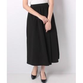 【15%OFF】 神戸レタス エンボスフレアギャザースカート レディース ブラック ワンサイズ(M) 【KOBE LETTUCE】 【タイムセール開催中】