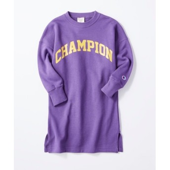 Champion ロゴプリントワンピース キッズ パープル