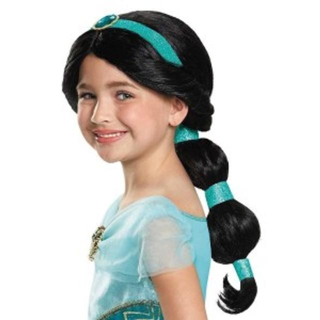 送料無料 アラジン ジャスミン 子供用 キッズ ウィッグ コスプレ ハロウィン ディズニー Disney Alladin