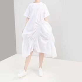 レディース ワンピース 『お得』 半袖 無地 しわ ワンピース 大きいサイズ 大人カジュアル 30代 40代 50代 ファッション