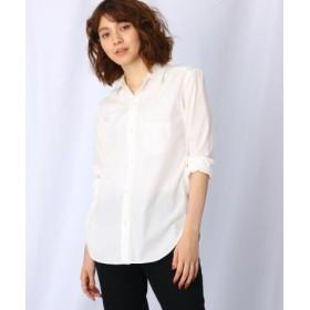 (JET/ジェット)【洗える】コットンベーシックシャツ/レディース ホワイト(001)
