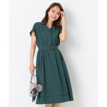 【エニィスィス/any SiS】 【洗える】カラーレスシャツ ワンピース