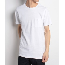 【70%OFF】 メンズビギ ロング丈ポケットTシャツ[キシリトール加工] メンズ ホワイト L 【Men's Bigi】 【セール開催中】