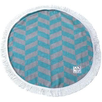 <OLSIA/オルシア> Round & Round Round towel chibiサイズ ブルー×グレー 【三越・伊勢丹/公式】