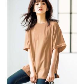 (GeeRa/ジーラ)綿100%ビッグシルエットTシャツ /レディース モカ