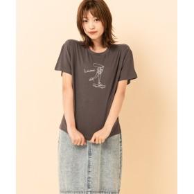 レトロガール girlsプリントTee レディース ダークグレー M 【RETRO GIRL】