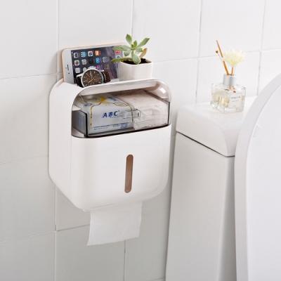 DaoDi新款大升級防水壁掛雙層衛生紙盒多色任選 贈送無痕貼