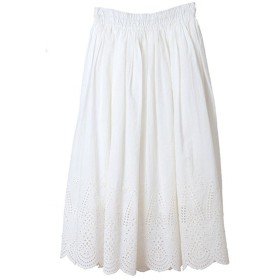 【50%OFF】 トランテアン ソン ドゥ モード インド製シフリー刺繍スカート レディース オフホワイト 36(S) 【31 Sons de mode】 【セール開催中】