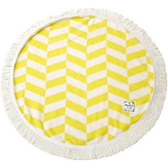 <OLSIA/オルシア> Round & Round Round towel chibiサイズ イエロー×ホワイト 【三越・伊勢丹/公式】
