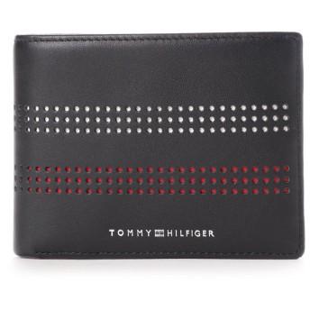 トミーヒルフィガー TOMMY HILFIGER レザーコイン&カードケース (ネイビー)