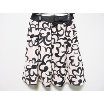 エムズグレイシー M'S GRACY スカート サイズ38 M レディース ベージュ×黒 リボン【中古】20190719