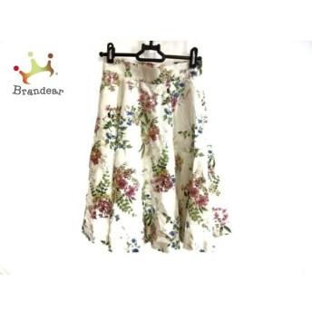 アプワイザーリッシェ スカート サイズ0 XS レディース 白×グリーン×マルチ 花柄 新着 20190804